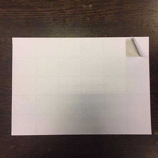 چاپ لیبل پشت چسبدار